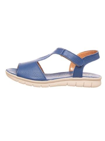 CAMINA by Kmins Skórzane sandały w kolorze niebieskim