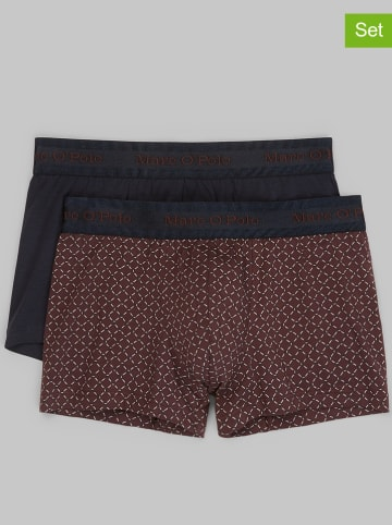 Marc O´Polo Bodywear 2-delige set: boxershorts bordeaux/donkerblauw