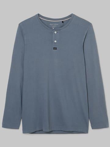 Marc O´Polo Bodywear Pyjamashirt blauwgrijs
