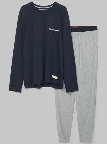 Marc O´Polo Bodywear Pyjama donkerblauw/lichtgrijs