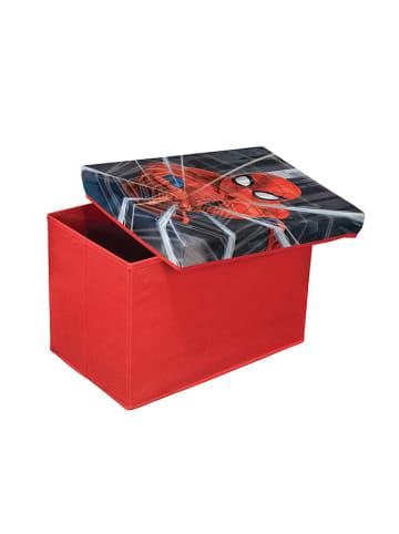 Domopak Puf w kolorze czerwonym ze wzorem - (S)49 x (W)31 x (G)31 cm