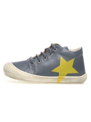 """Naturino Skórzane buty """"Coco"""" w kolorze niebieskim do nauki chodzenia"""