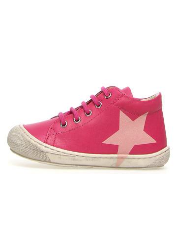"""Naturino Skórzane sneakersy """"Coco"""" w kolorze różowym"""