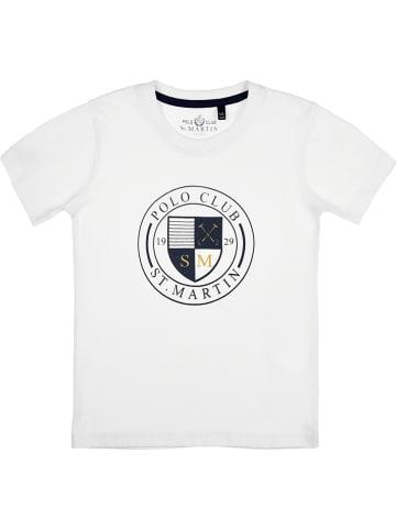 POLO CLUB St. MARTIN Koszulka w kolorze białym