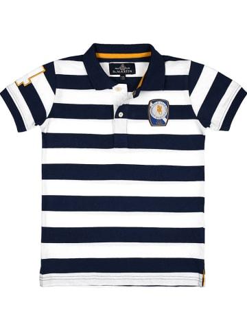 POLO CLUB St. MARTIN Poloshirt donkerblauw/wit