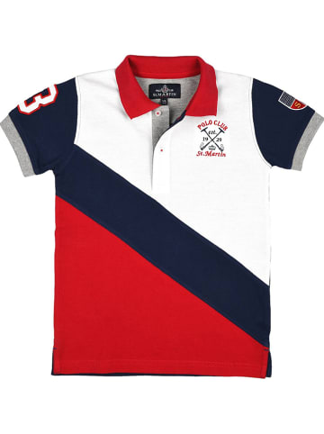 POLO CLUB St. MARTIN Poloshirt donkerblauw/rood/wit