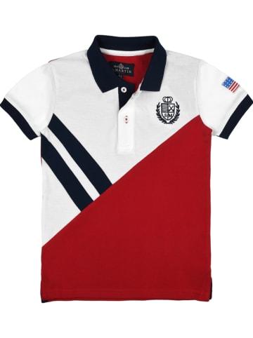 POLO CLUB St. MARTIN Koszulka polo w kolorze czerwono-białym