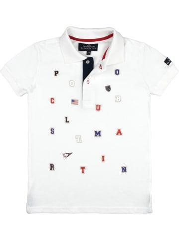 POLO CLUB St. MARTIN Koszulka polo w kolorze białym