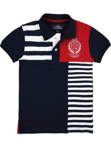 POLO CLUB St. MARTIN Poloshirt donkerblauw/wit/rood