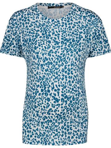 Supermom Koszulka ciążowa w kolorze biało-niebieskim