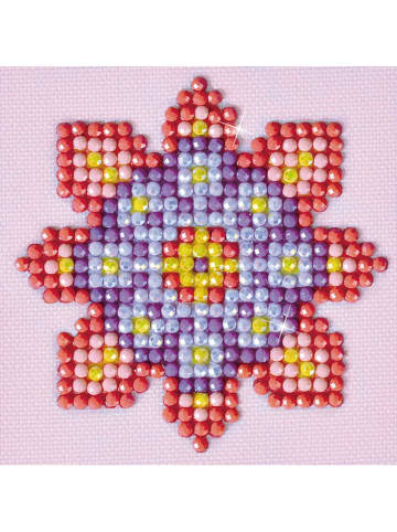 "DIAMOND DOTZ Creativiteitsset ""Flower Mandala 2 - Diamond Dotz"" - vanaf 8 jaar"