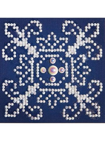 """DIAMOND DOTZ Creativiteitsset """"White on Blue - Diamond Dotz"""" - vanaf 8 jaar"""