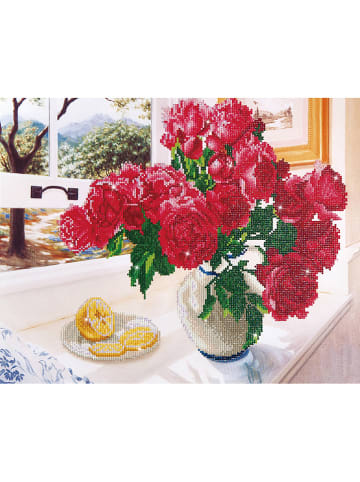 "DIAMOND DOTZ Kreativset ""Roses by the Window - Diamond Dotz®"" - ab 8 Jahren"