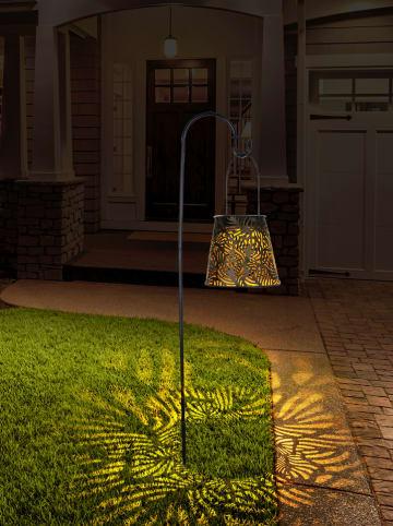 """Lumisky Solarna lampa ogrodowa LED """"Hang shade"""" w kolorze czarnym - wys. 14,5 cm"""