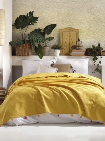 """Colourful Cotton Narzuta """"Pony"""" w kolorze żółtym"""