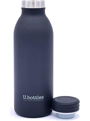 U.bottles Edelstahl-Isolierflasche in Schwarz - 450 ml