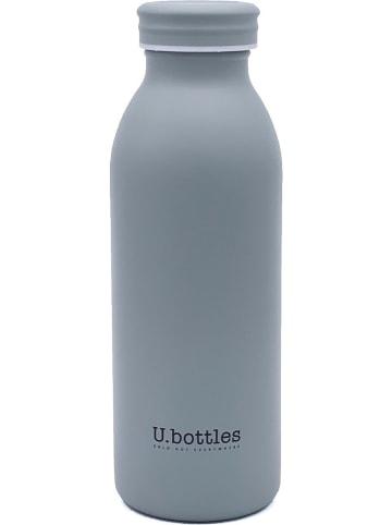 U.bottles Edelstahl-Isolierflasche in Grau - 450 ml