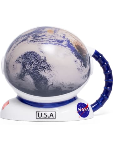 "Thumbs Up Tasse mit Farbwechsel ""NASA - Helmet"" in Weiß/ Blau - 300 ml"