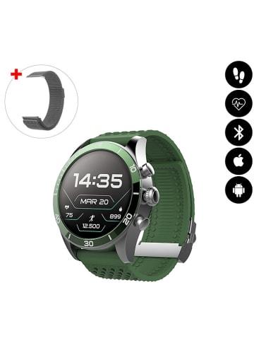 Evetane Smartwatch in Grün/ Grau