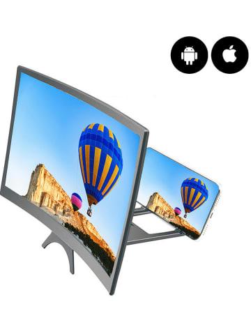 Evetane Powiększacz ekranu w kolorze czarnym do smartfonów