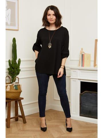 Curvy Lady Bluzka w kolorze czarnym