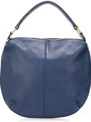 Giulia Massari Leren handtas blauw - (B)33 x (H)27 x (D)4 cm