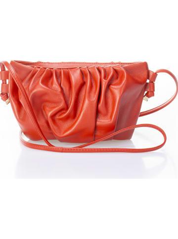 Giulia Massari Leren schoudertas rood - (B)26 x (H)13 x (D)9 cm