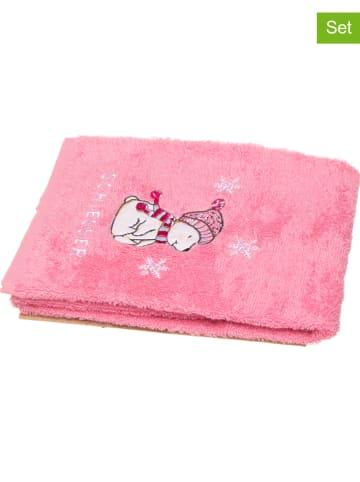"Schiesser 2er-Set: Kinder-Handtücher ""Bearly"" in Pink"