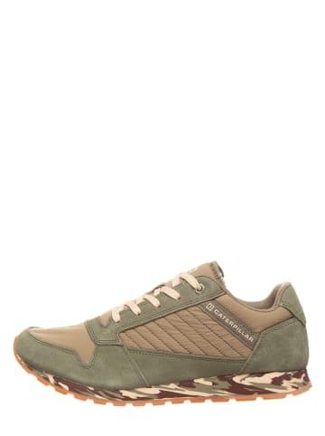 "CAT Leder-Sneakers ""Ventura"" in Grün"