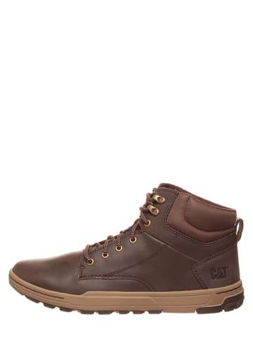 "CAT Leder-Sneakers ""Colfax"" in Braun"