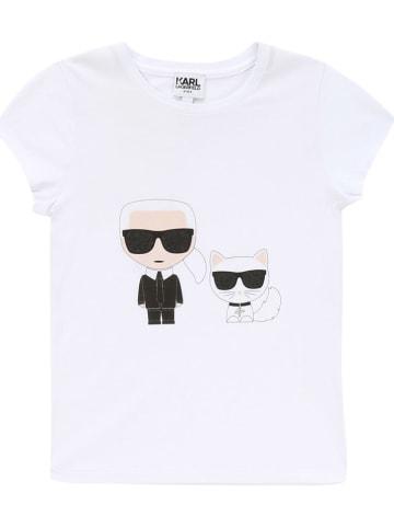 Karl Lagerfeld Kids Koszulka w kolorze białym