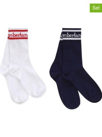 Timberland 2er-Set: Socken in Dunkelblau/ Weiß