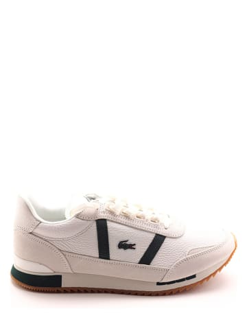 """Lacoste Skórzane sneakersy """"Partner Retro"""" w kolorze biało-zielonym"""