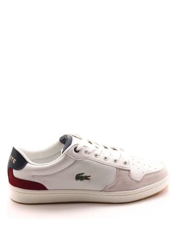 """Lacoste Leren sneakers """"Masters Cup"""" wit/meerkleurig"""