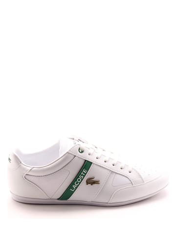 """Lacoste Leren sneakers """"Chaymon Tech"""" wit/groen"""