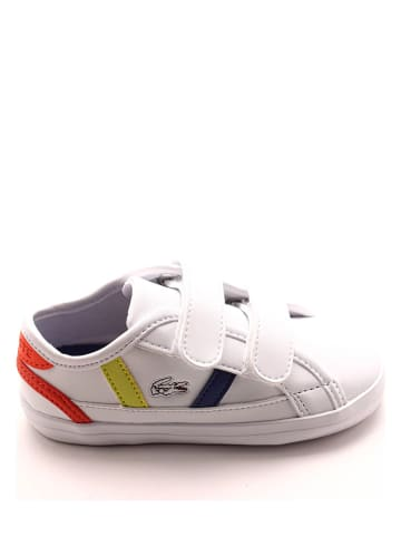 """Lacoste Leren sneakers """"Sideline"""" wit/meerkleurig"""