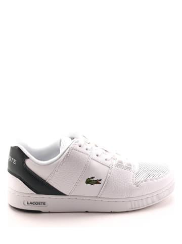 """Lacoste Skórzane sneakersy """"Thrill"""" w kolorze biało-zielonym"""