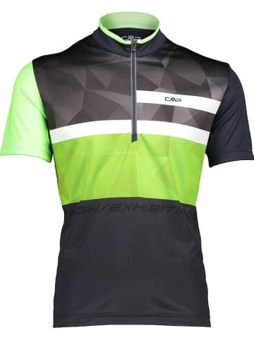 CMP Fietsshirt zwart/groen