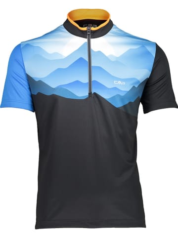 CMP Fietsshirt zwart/blauw