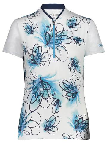 CMP Koszulka kolarska w kolorze biało-błękitnym
