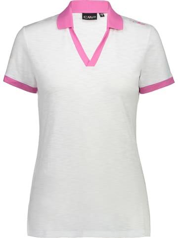 CMP Poloshirt wit/lichtroze