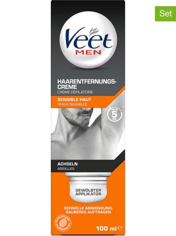 "Veet 2er-Set: Haarentfernungs-Cremes ""Men Achseln"", je 100 ml"