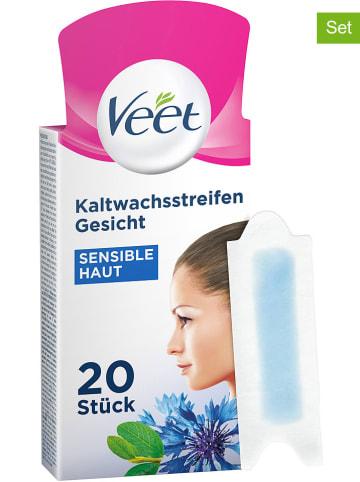 """Veet 2er-Set: Kaltwachsstreifen """"Gesicht Sensitive"""", je 20 Stück"""