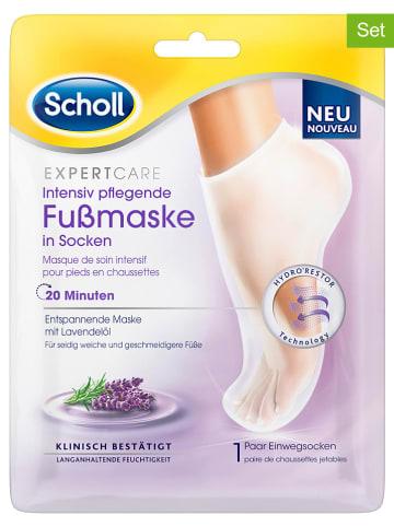 """Scholl 2-delige set: voetmaskers """"Expert Care Intensieve Verzorging"""", elk 2 stuks"""