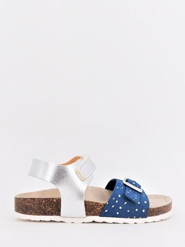 DOCKSTEPS Sandały w kolorze niebiesko-srebrnym