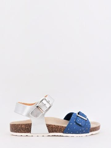 DOCKSTEPS Sandalen zilverkleurig/blauw