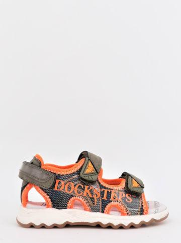 DOCKSTEPS Sandalen kaki/oranje