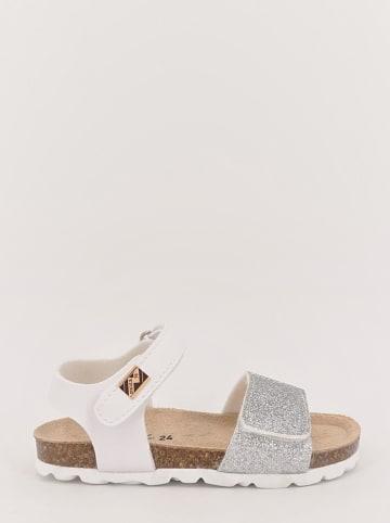 TREVIRGOLAZERO Sandalen wit/zilverkleurig