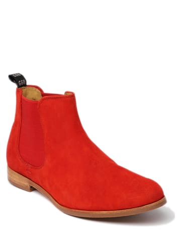 "GORDON & BROS Leder-Chelsea-Boots ""Paris"" in Rot"