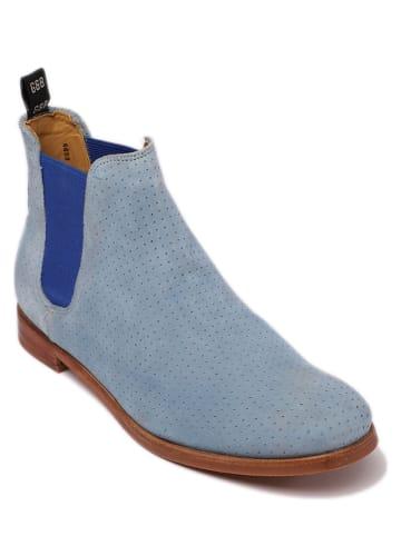 "GORDON & BROS Leder-Chelsea-Boots ""Eve"" in Hellblau"